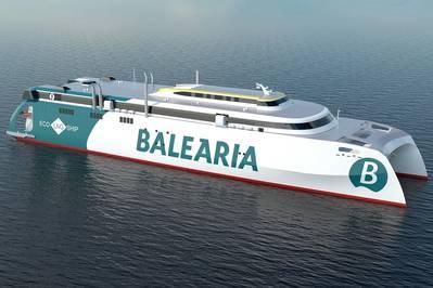 Hybrid Ferry: Balearia's 125 Dual-Fuel Ropax Fast