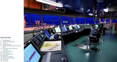 Picture: Modern ship's bridge, courtesy of Kongsberg Maritime