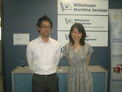 Pictured: (l-r):Ryota Matsuo and Takamasa Mori Ships Agency Operators, WSS Japan.