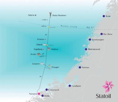 Pipe-lay Map: Image credit Statoil