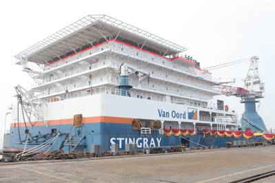 Pipe-layer 'Stingray': Photo courtesy of Van Oord