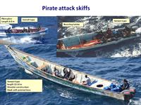 Pirate attack skiffs (courtesy: NATO)
