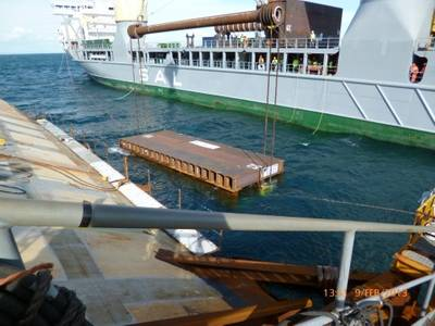 Placing Subsea Platform: Photo credit 'Observatory'