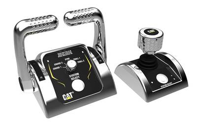Pod controls: Image courtesy of Caterpillar Marine