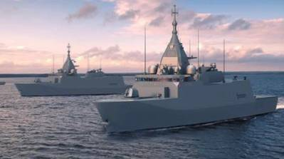 Pohjanmaa Class Corvettes in the Finnish Archipelago. (Illustration source: The Finnish Defence Forces)
