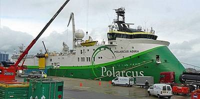 Polarcus Vessel Alongside: Photo credit Damen Shiprepair