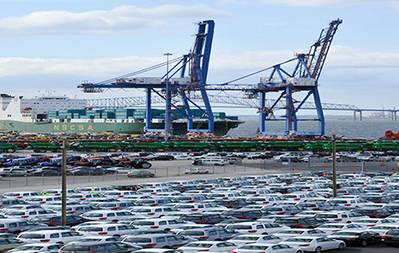 Port of Baltimore Wharf: Photo courtesy of Maryland Dept of Transportation