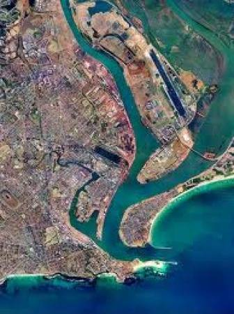 Port of Newcastle from the air: Image credit NSW Govt.