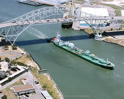 ATB Freeport-Chemical Transporter Outbound Corpus Christi. Photo: Lanmon Aerial Photography