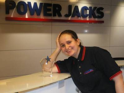 Power Jacks engineer Alison Petrie with her apprenticeship award
