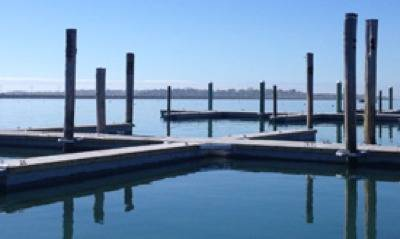 Precast Marina Dock: Photo courtesy of Shea Concrete