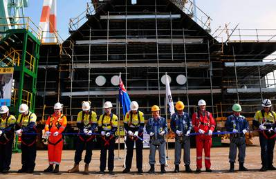 Prelude Keel-lay ceremonyL Photo credit Shell