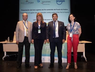 Presentation of a sustainable cold logistics hub. Photo: Port Authority of Huelva (APH)