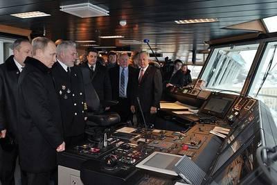 President Putin Aboard Icebreaker: Photo credit Presidential News Service