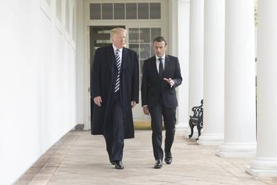 President Trump and President Macron in April 2018 (Official White House Photo by Shealah Craighead)