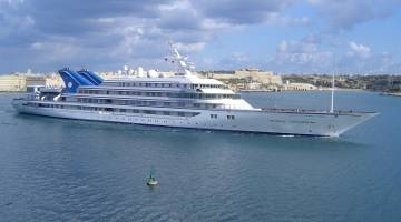 Prince Abdulaziz, one of the yachts of the Saudi Royal Family (Photo by Capt. Lawrence Dalli, Malta Ship Photos, 2011.)