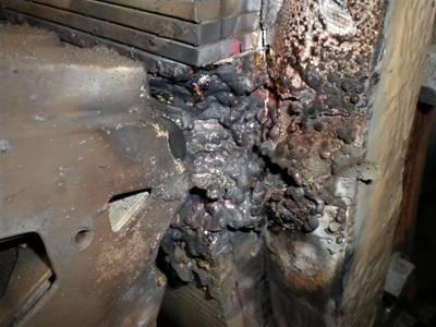 Propulsion Machinery Damage 'Walla Walla': Photo credit WSDOT
