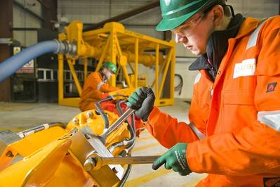 A Proserv technician working on the firm's suite of decommissioning tooling. (Photo: Proserv)