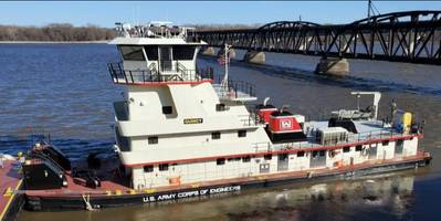 Quincy was built in 2008 and joins five other vessels in the Mississippi River Structures Maintenance fleet located at the Mississippi River Project Office in Pleasant Valley, Iowa. Its function is to serve as the primary towing vessel for the fleet's new Quad Cities Crane barge. (Photo: U.S. Army Corps of Engineers)