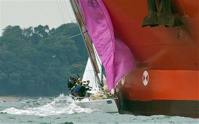 Racing yacht Atalanta of Chester collides with oil tanker Hanne Knutsen. (Photo: The Telegraph)