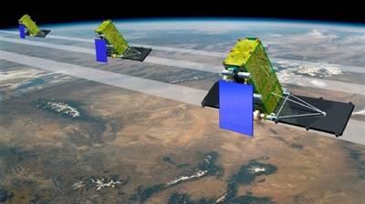 Radarsat Constellation: Image credit MDA