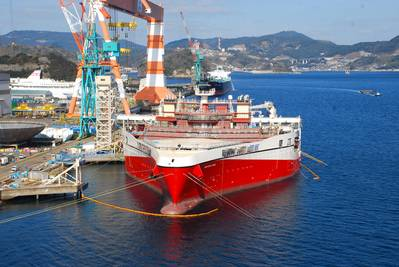 Ramform Seismic Survey Ship: Photo courtesy of MHI