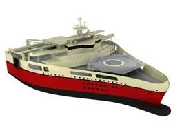 Ramform W-class, an offshore 3D seismic vessel of PGS