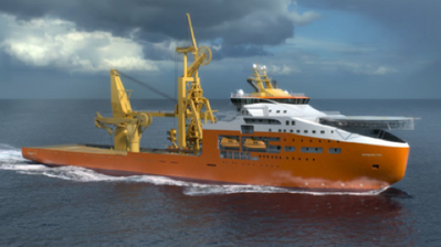 Rendering of subsea construction vessel courtesy of Solstad