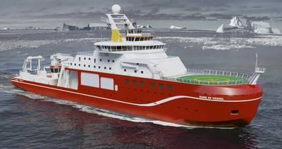 Rendering of the new polar research vessel to be built by Cammell Laird (Image: Cammell Laird)