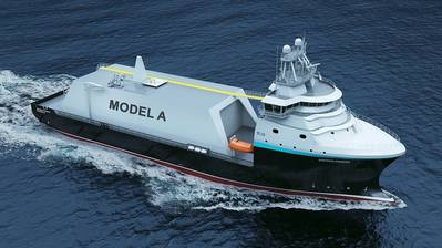 Rendering of the new small-scale LNG carrier/bunker vessel design by ShipInox. (Source: ShipInox)