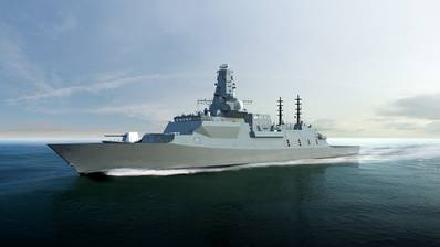 Rendering of the Type 26 warship (Image: U.K. Royal Navy)