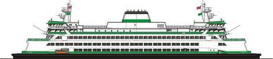 Rendering of Washington's new 144-car ferry.