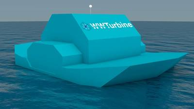 Rendering of WWT's self-floating power plant