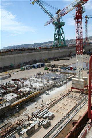 Renovation work underway at Drydock 10, Marseilles