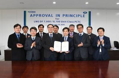Representatives from KR and HHI at the AIP presentation ceremony (Photo: KR)