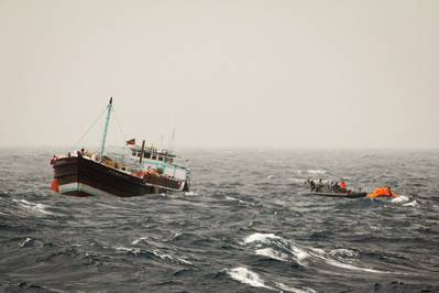 Rescue operation off Somalia: Photo credit EU NAVFOR