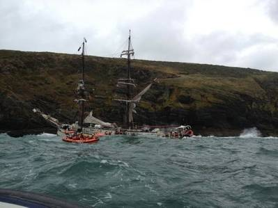 Rescue Scene: Photo courtesy of RNLI