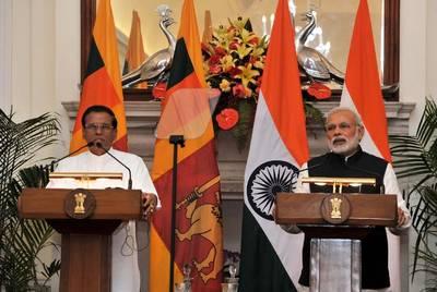 Sri Lankan President Maithripala Sirisena  and Indian Prime Minister Narendra Modi (Press Information Bureau, India)