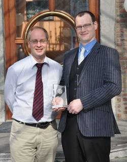 Richard Powling (Right) Volker Bertram (Left) of COMPIT:Photo credit COMPIT