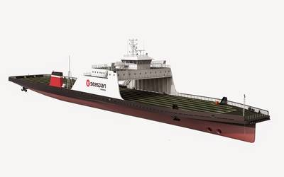 British Columbia-based Seaspan Ferries has chosen BV class for two hybrid LNG/diesel/battery-powered ro-ro cargo ferries which will be built at the Sedef yard in Turkey. (Image: Bureau Veritas)