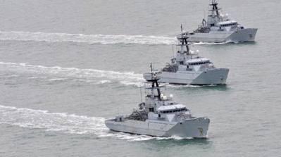RN River-class patrol boats: Photo credit BAE