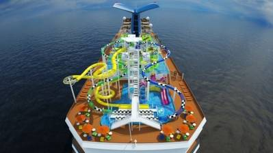 Carnival Sunshine's 'WaterWorks': Image credit Carnival Cruises