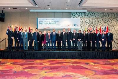 Governors and Representatives of Contracting Parties at the 11th ReCAAP ISC Governing Council Meeting. Photo: Maritime and Port Authority of Singapore