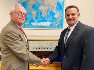 Robert G. (Bob) Wellner and David R. Minetti (CREDIT: Liberty Global Logistics)