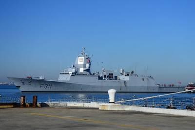 Royal Norwegian navy frigate HMNoS Roald Ammundsen approaches Naval Station Norfolk. Photo: United States Navy