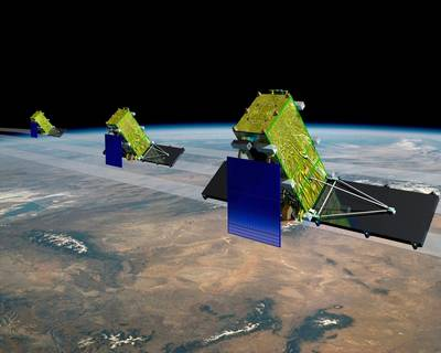 RADARSAT Constellation: Image credit Northrop Grumman