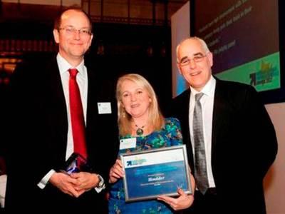 Rupert Hare, Houlder Managing Director; Margot Freemans, Houlder HR Manager; and Dr. Paul Redmond, The University of Liverpool (Photo: Houlder)