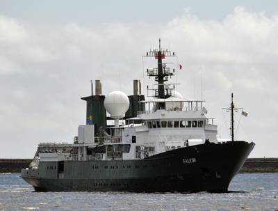R/V Falkor: Photo credit Schmidt Ocean Institute