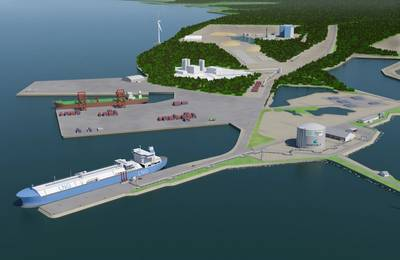 Schematic of Manga LNG terminal courtesy of Wärtsilä