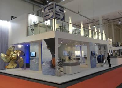 Schottel's booth (stand 306, Hall A 4) at SMM 2014 (Photo: Schottel)